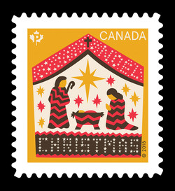 Away In A Manger Christmas 2018 Canada Postage Stamp
