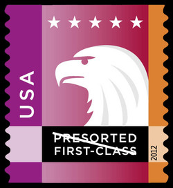 Purple-Orange Eagle United States Postage Stamp | Spectrum Eagle