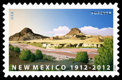 New Mexico Statehood - 1912 United States Postage Stamp
