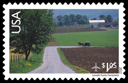 Lancaster County, PA United States Postage Stamp | Scenic American Landscapes