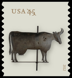 Cow Weather Vane United States Postage Stamp | Weather Vanes