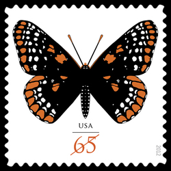 Baltimore Checkerspot - Butterfly United States Postage Stamp