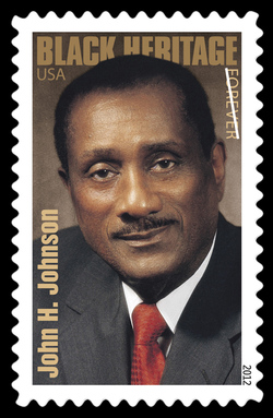 John H. Johnson United States Postage Stamp | Black Heritage