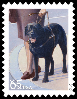 Guide Dog United States Postage Stamp | Dogs at Work