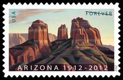 Arizona Statehood - 1912 United States Postage Stamp