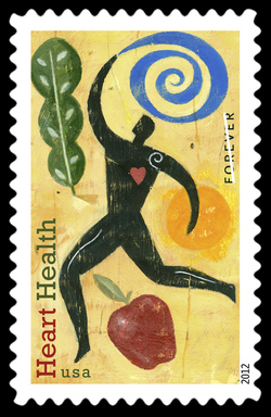 Heart Health United States Postage Stamp