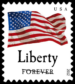 Four Flags US Postage Stamp Series