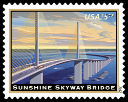 Sunshine Skyway Bridge United States Postage Stamp