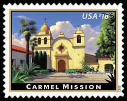 Carmel Mission United States Postage Stamp