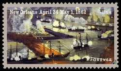 New Orleans - April 24-May 1, 1862 United States Postage Stamp | Civil War Sesquicentennial