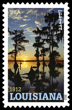Louisiana Statehood - 1812 United States Postage Stamp