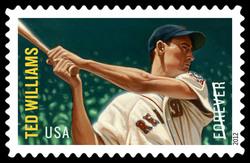 Ted Williams United States Postage Stamp | Major League Baseball All-Stars