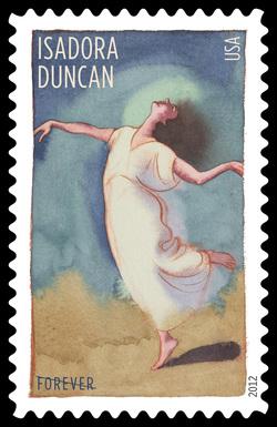 Isadora Duncan United States Postage Stamp | Innovative Choreographers