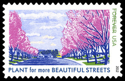 Plant for More Beautiful Streets United States Postage Stamp | Lady Bird Johnson