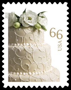 Wedding Cake United States Postage Stamp | Weddings