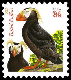 Tufted Puffins United States Postage Stamp