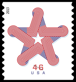 Patriotic Star United States Postage Stamp