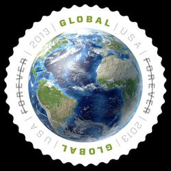 Planet Earth United States Postage Stamp