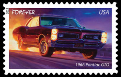 1966 Pontiac GTO - Muscle Car United States Postage Stamp | America on the Move