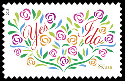 Yes, I Do United States Postage Stamp | Weddings