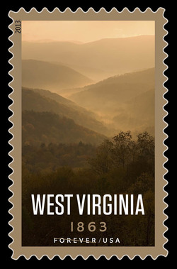 West Virginia Statehood - 1863 United States Postage Stamp