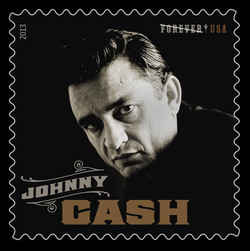 Johnny Cash United States Postage Stamp | Music Icons