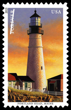 Portland Head Lighthouse - Main United States Postage Stamp | New England Coastal Lighthouses