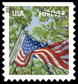 Spring Season Flag United States Postage Stamp | A Flag for All Seasons