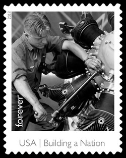 Airplane Maker United States Postage Stamp | Made in America - Building A Nation