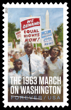 The 1963 March on Washington United States Postage Stamp