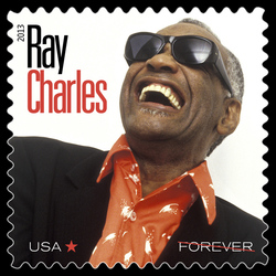 Ray Charles United States Postage Stamp | Music Icons