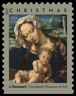 Virgin and Child by Jan Gossaert - Cleveland Museum of Art United States Postage Stamp