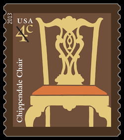 Chippendale Chair United States Postage Stamp | American Design