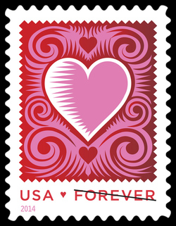 Cut Paper Heart United States Postage Stamp | Love