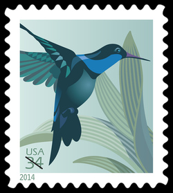 Hummingbird United States Postage Stamp