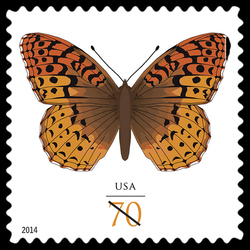 Great Spangled Fritillary - Butterfly United States Postage Stamp