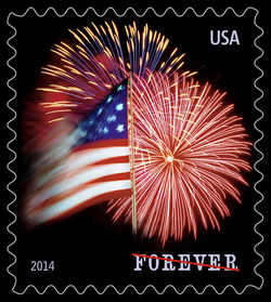 The Star-Spangled Banner - Flag and Fireworks United States Postage Stamp