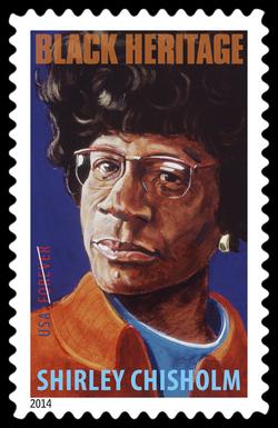 Shirley Chisholm United States Postage Stamp | Black Heritage