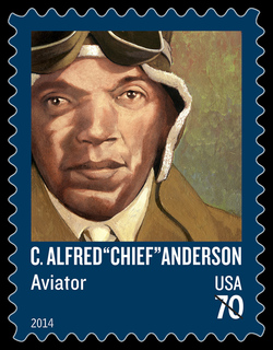 """C. Alfred """"Chief"""" Anderson - Aviator United States Postage Stamp 
