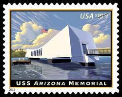 USS Arizona Memorial United States Postage Stamp