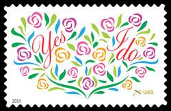 Yes, I Do United States Postage Stamp | Weddings