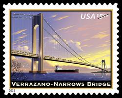 Verrazano-Narrows Bridge United States Postage Stamp