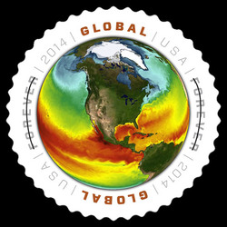 Sea Surface Temperatures United States Postage Stamp