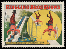 Hillary Long United States Postage Stamp | Vintage Circus Posters