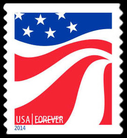 Red, White, and Blue - Flag #1 United States Postage Stamp | Red, White, and Blue