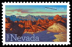 Nevada Statehood - 1864 United States Postage Stamp | Statehood