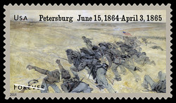 Assault on Petersburg, Virginia United States Postage Stamp | Civil War Sesquicentennial