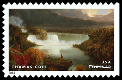 Distant View of Niagara Falls - Thomas Cole United States Postage Stamp | American Treasures