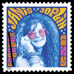 Janis Joplin United States Postage Stamp | Music Icons