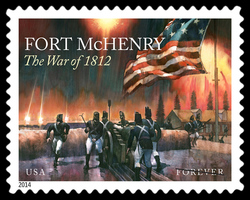 Fort McHenry - The War of 1812 United States Postage Stamp | War of 1812